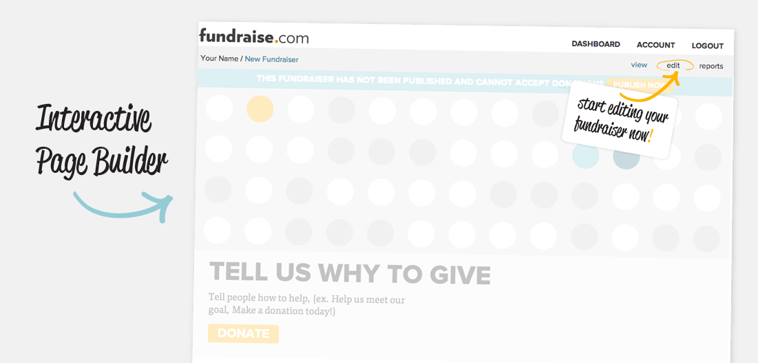 Build a fundraising page in under 5 minutes
